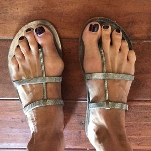 Pedro Garcia Swarovski Crystal sandals size 40